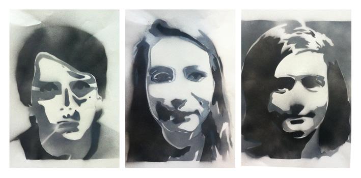Yr 9 Stencil Portraits