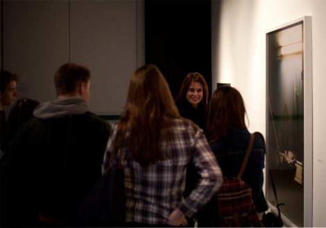 Rut Blees Luxemburg talking to RIC Photography students at the Museum of London